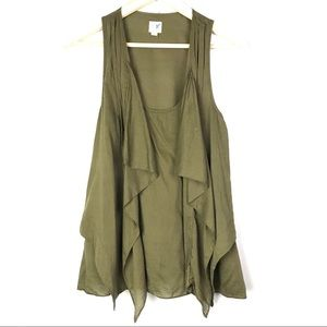Edme & Esyllte Olive Green Sleeveless Blouse
